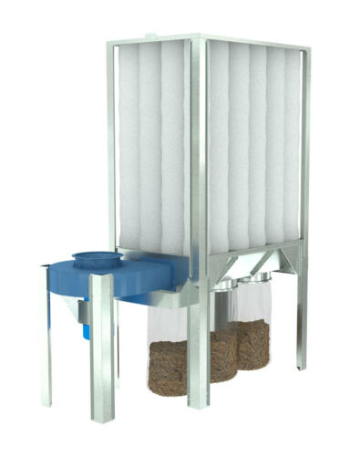 #89201024 Waste Plastic Bags Nederman S Series Dust Collector roll of 90