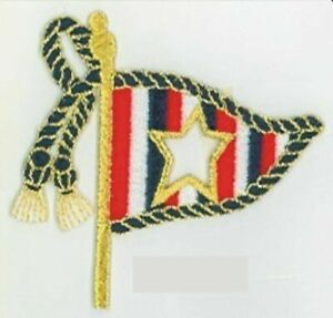 Nautical Boating Star Flag Embroidery Patch