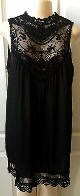 WOMENS PLUS DRESS 2X NEW BLACK LACE TUNIC TOP 18 20 XXL NWT GORGEOUS FALL DEAL