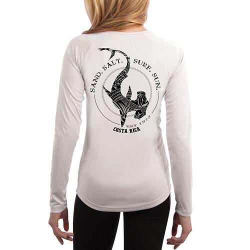 Costa Rica Polynesian Hammerhead Tribal Women/'s UPF 50 Long Sleeve T-Shirt