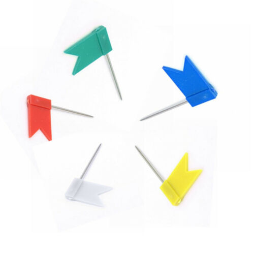 Fahne Form Push Pin Pinnadeln Push Pins Pinnwand-Nadeln Nadeln Farbig 24 mm