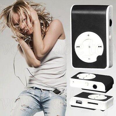 Black Mini Clip USB MP3 Player Support 32GB Micor SD TF Card Reader Music Media