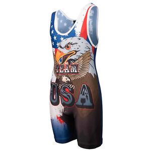 Wrestling Singlet par KO Sports Gear: Team USA