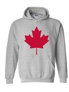Canadian Maple Leaf Sweat à capuche paillettes Drapeau National Enfants et Adultes Capuche nouveau cadeau