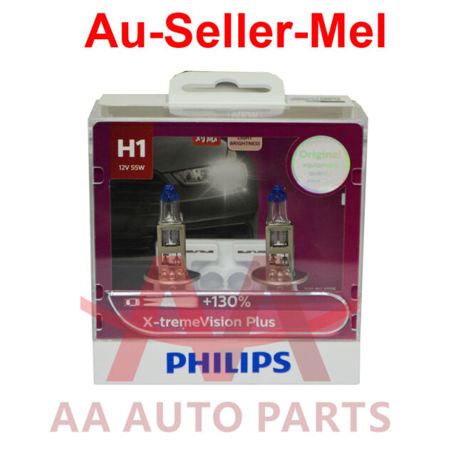 Philips H1 X-treme Vision Plus +130% Halogen Light bulbs extreme xtreme