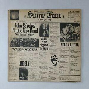 JOHN-amp-YOKO-PLASTIC-ONO-BAND-Some-Time-SVBB3392-Bell-SF-Dbl-LP-Vinyl-VG-near