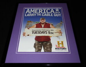 America-With-Larry-the-Cable-Guy-2011-Framed-11x14-ORIGINAL-Advertisement