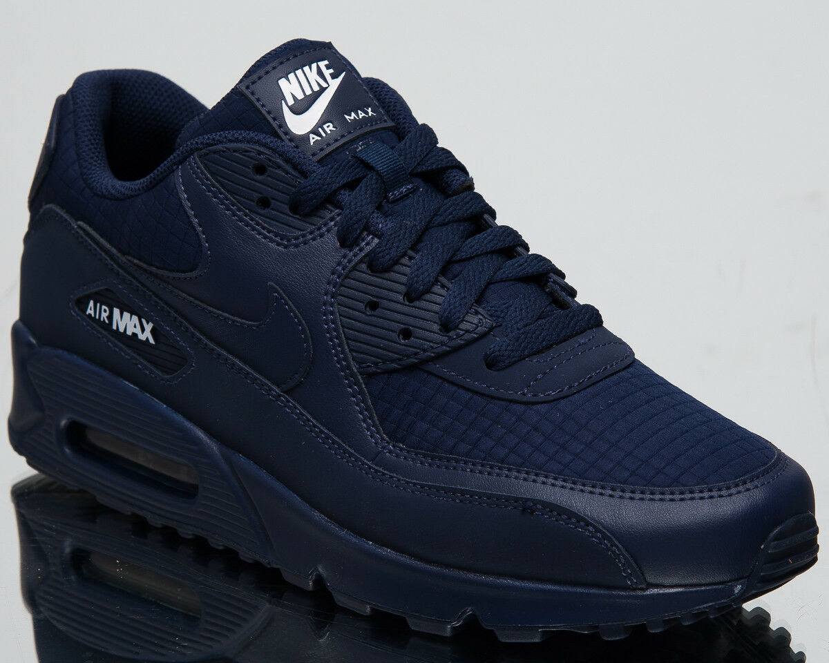Nike Air Max 90 Essential Men's New Midnight Navy White Casual shoes AJ1285-404