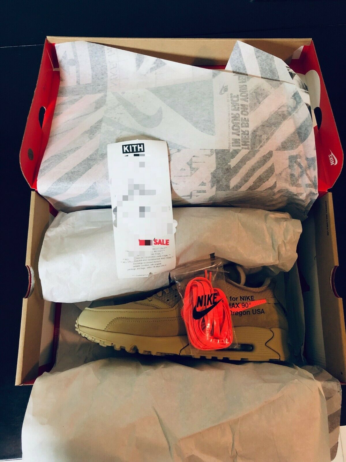 IN HAND NOW The 10  Nike Air Max 90 x Off White  Desert  US Men 11.5