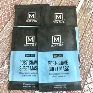 M Skin Care Post Shave Cooling Facial Sheet Men Moisturize Sooth Lot Of 4