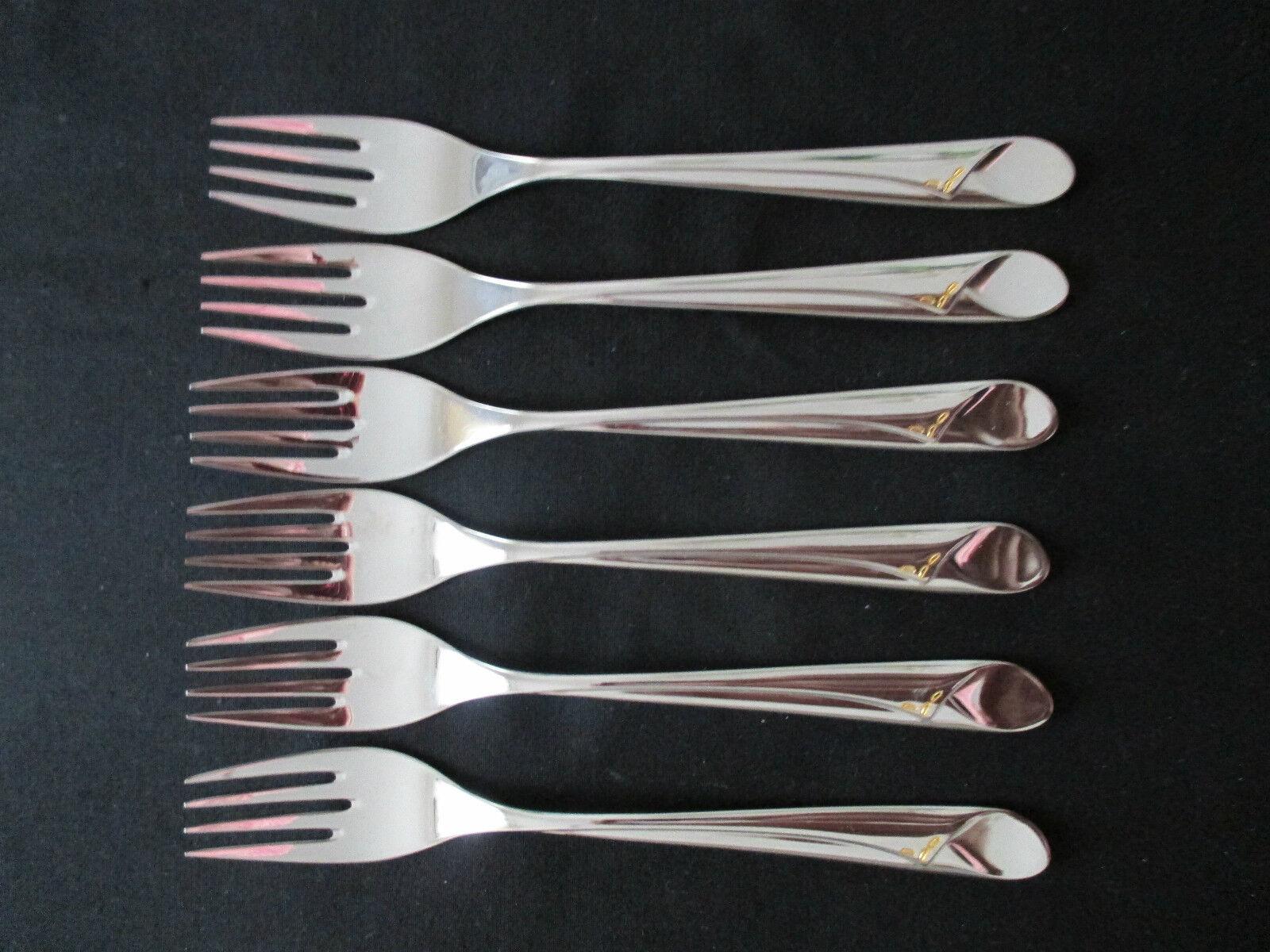 WMF volute 6 Poisson fourche DESSERT Fourchette 6 pièces 18,5 cm Fourchette à poisson couverts NEUF