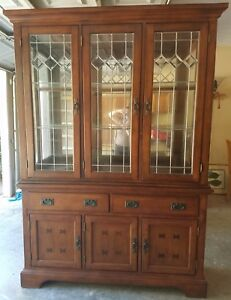 Image Is Loading NEW China Cabinet And Hutch With Mirrored And