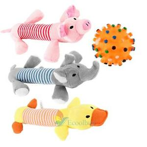 Dog-Toy-Pet-Puppy-Plush-Sound-Chew-Squeaker-Pig-Elephant-Duck-Squeaky-Toys-A