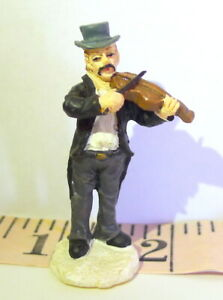 Victorian-Village-Violin-Player-Christmas-Grandeur-Noel-1999-Replacement