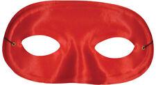 TI60SV Morris Costumes Domino Metallic Look Thin Elastic Band Silver Half Mask