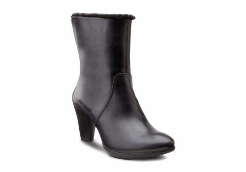 ECCO SCULPTURED 75 Leather WOOL Lined High Heel Boots UK7.5 EU 41 RRP£170