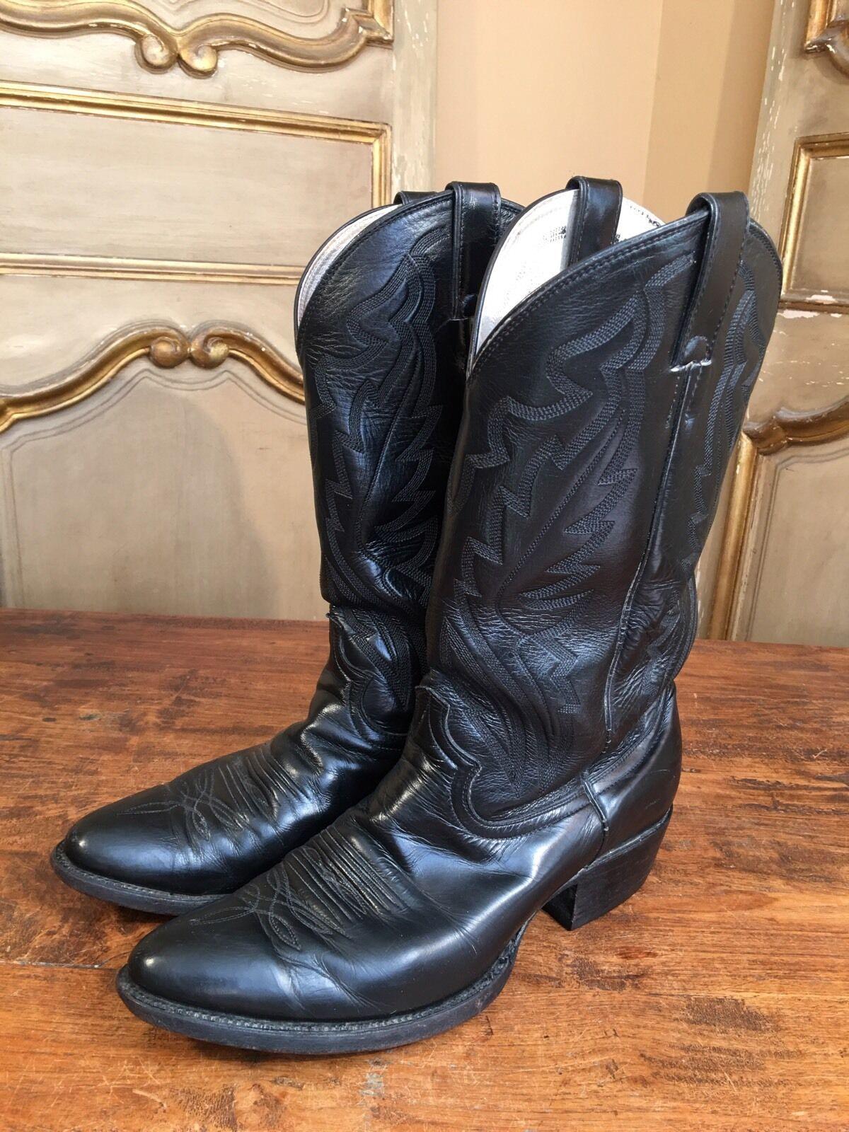 3995768931 VINTAGE DIAMOND J COWBOY WESTERN BOOTS 10 BROWN MEN'S D nrluug5100-new shoes