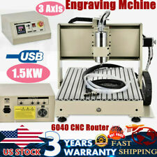 Usb 3axis 15kw 6040 Cnc Router 3d Engraving Mchine Metal Wood Drill Milling