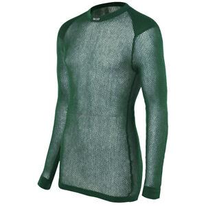Brynje-Super-Thermo-Crew-Neck-Mesh-Thermal-Underwear-Shirt-Top-Base-Layer-Green