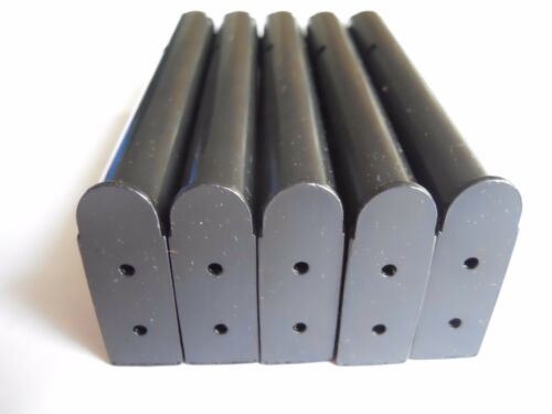 NEW  .45 cal. 8 shot 1911 type USA mag mags  5 BLUE Steel magazine