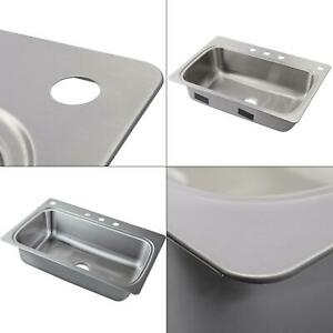 4ab9294d26 verse drop-in stainless steel 33 in. 4-hole single bowl kitchen sink ...
