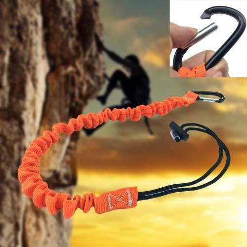 Single Carabiner Tool Lanyard Retractable Safety Rope Buckle Hiking Climbing