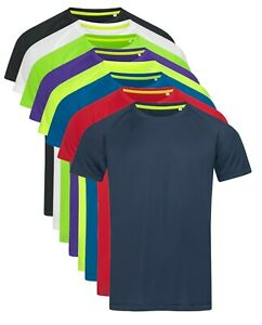 ACTIVE-DRY-Breathable-Polyester-Raglan-Sleeve-Sports-Athletic-Tee-T-Shirt-Tshirt
