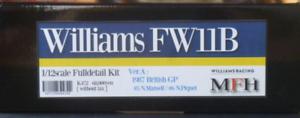 Model Factory Hiro 1/12 Williams Fw11b Ver.a 1987 Complet Détail Kit K-472