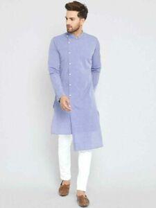 Weiß Farbe Homewear Hemden Top Hemd Solid Kurta Herren Kleidung Baumwolle Tuch