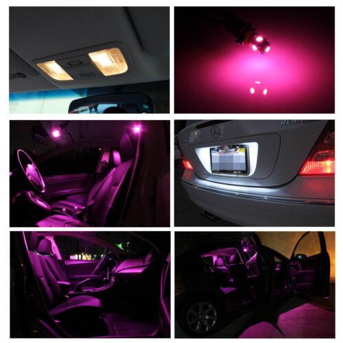 9x Pink Premium White LED Lights Interior Package Kit for 2013-2015 Dodge Dart