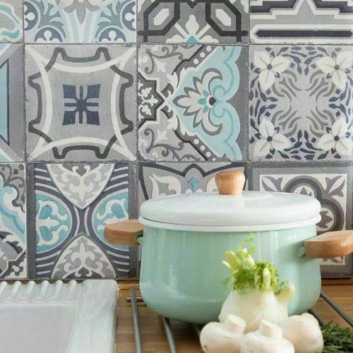 1M UP TO 20M X67.5cm MOROCCAN TILE KITCHEN BATHROOM WALLPAPER WATERPROOF DCWALL
