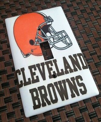 Cleveland Browns #2 Orange Light Switch Covers Football NFL Home Decor Outlet