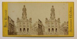 Parigi-Eglise-Da-La-Trinita-Francia-Foto-Stereo-P49p2n26-Vintage-Albumina