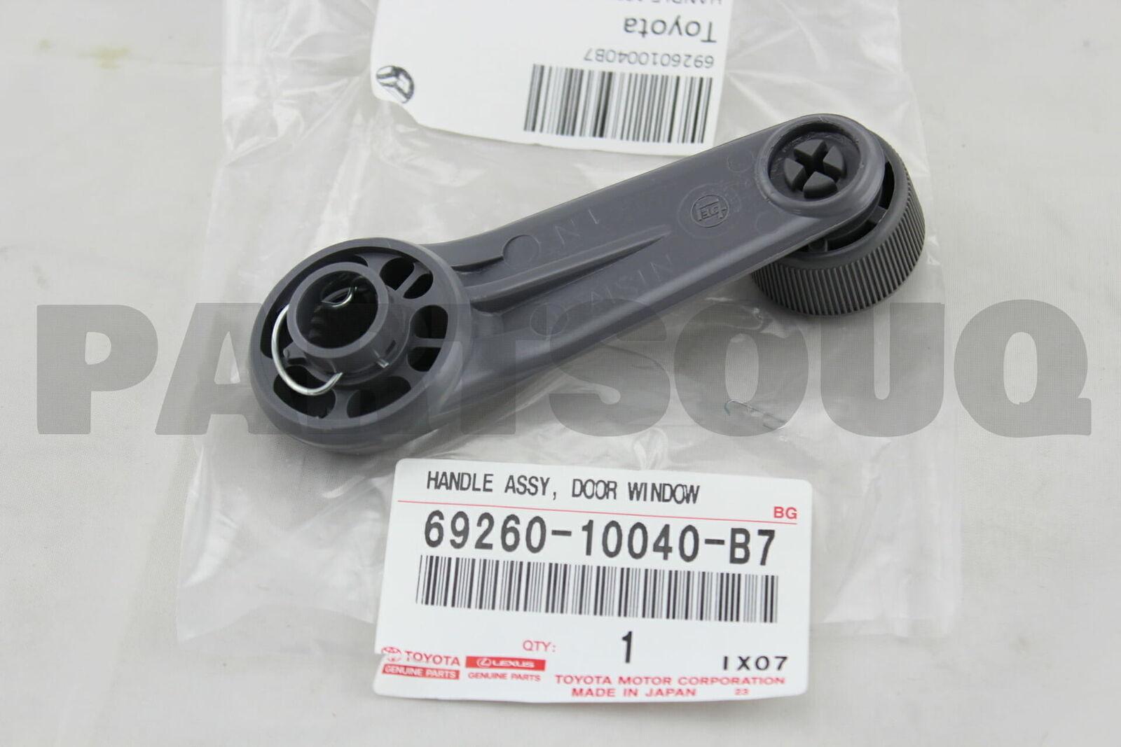 FRONT DOOR WINDOW REGULATOR 6926010040B1 Genuine Toyota HANDLE ASSY