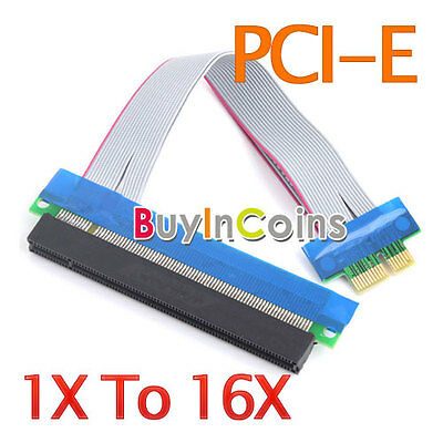 New PCI-E Extension Cable 1x To 16x Riser Extender Card Gadegts BAAU