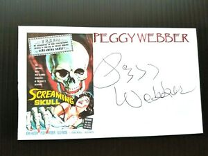 034-SCREAMING-SKULL-034-PEGGY-WEBBER-AUTOGRAPHED-3X5-INDEX-CARD