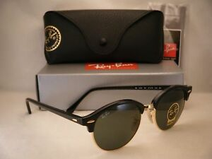 0fdad95753 Ray Ban 4246 Clubround Black w Green Crystal (G-15) Lens (RB4246 901 ...