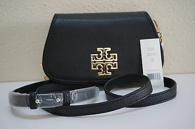 NWT TORY BURCH BRITTEN MINI CROSS-BODY/CLUTCH BAG BLACK
