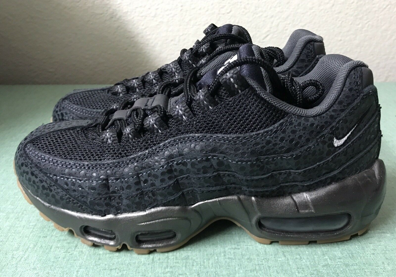 f1f955639 Nike Air Max 95 PRM Premium Black White White White Anthracite Women s Sz 6  Safari NEW!!! 9517cb