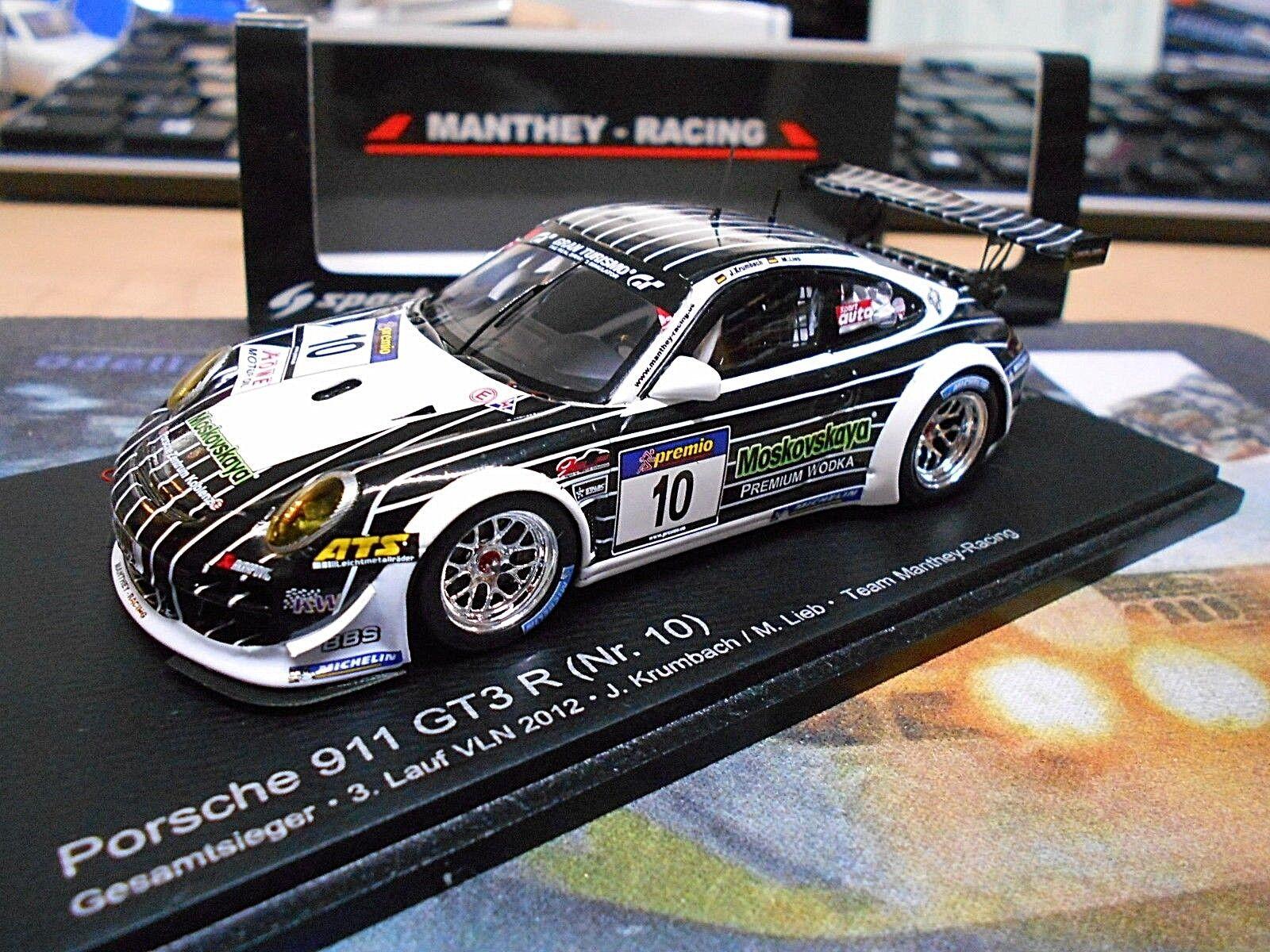 Porsche 911 997 gt3 R VLN 2012 dulce Krumbach Manthey Moskovskaya Spark 1 43