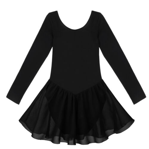 Girls Kids Gymnastic Ballet Leotard Tutu Dress Ballerina Skate Dance Wear Outfit