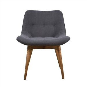 Featherston Style Contour Dining Chair Mid Century Modern Grey