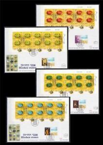 ISRAEL-2012-BIBLE-HIGH-PRIEST-039-S-BREASTPLATE-HOSHEN-STONES-4-SHEETS-ON-FDC