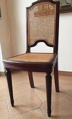 Sedie Viennesi Antiche.Tre Sedie Antiche In Noce Paglia Di Vienna Ebay
