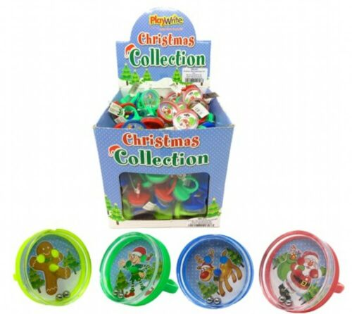100 Small CHRISTMAS Puzzle Rings Toys Party Bag Favours Lucky Dip Prizes XMAS