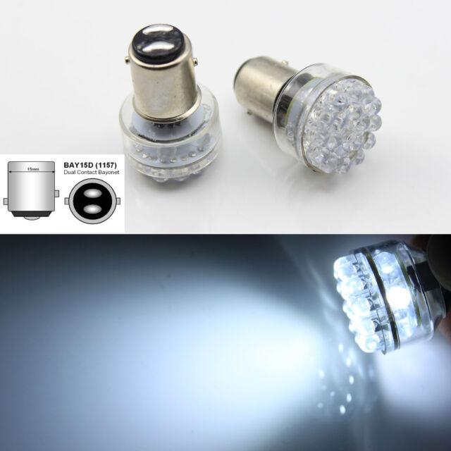 2x 24 LED 6V White Car Bulb 1157 bay15d Light Stop/Tail/Stop/Reverse Lamp AC/DC