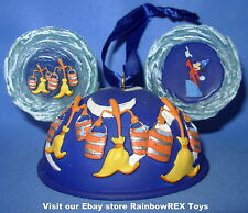 Disney Parks Fantasia Sorcerer's Apprentice Mickey Ear Hat Ornament LIMITED