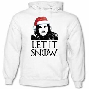 Navidad Let It Nieve Juego de Tronos Inspirado Hombre Capucha Jon John Secreto