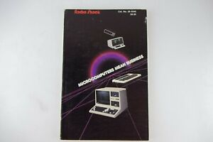 Vtg-1983-Radio-Shack-Microcomputers-Mean-Business-Instruction-Manual-Book