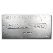 100 oz Silver Bar - Engelhard - SKU #166597